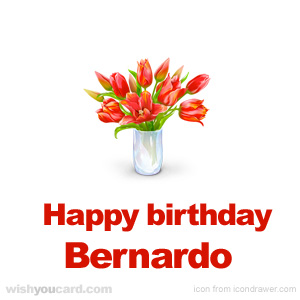 happy birthday Bernardo bouquet card