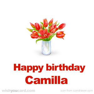 happy birthday Camilla bouquet card