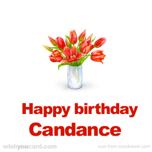 happy birthday Candance bouquet card