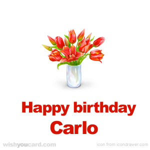 happy birthday Carlo bouquet card
