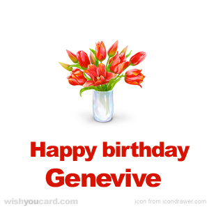 happy birthday Genevive bouquet card