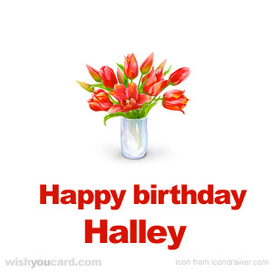 happy birthday Halley bouquet card