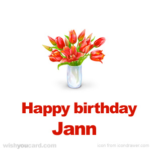 happy birthday Jann bouquet card