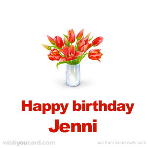 happy birthday Jenni bouquet card