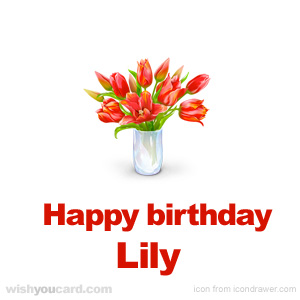 happy birthday Lily bouquet card