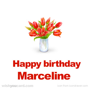 happy birthday Marceline bouquet card