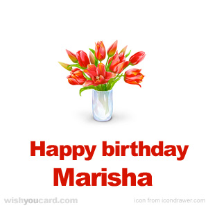 happy birthday Marisha bouquet card