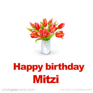 happy birthday Mitzi bouquet card
