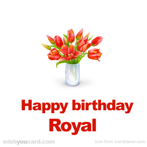 happy birthday Royal bouquet card