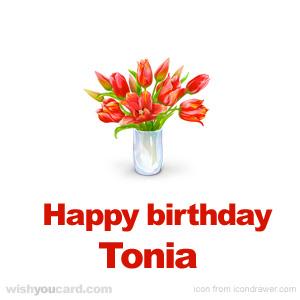 Happy Birthday Tonia Free e-Cards