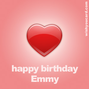 happy birthday Emmy heart card