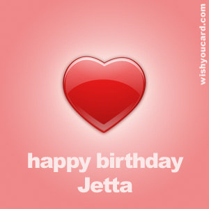 happy birthday Jetta heart card
