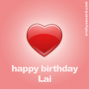 happy birthday Lai heart card