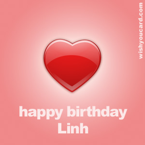 happy birthday Linh heart card