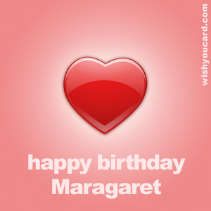 happy birthday Maragaret heart card