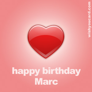 happy birthday Marc heart card
