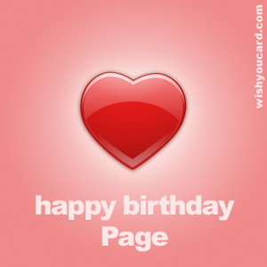happy birthday Page heart card