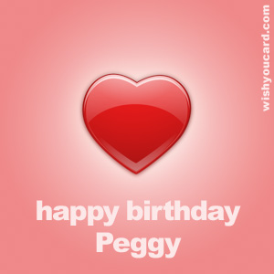 happy birthday Peggy heart card