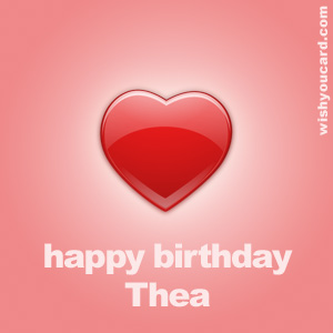 happy birthday Thea heart card