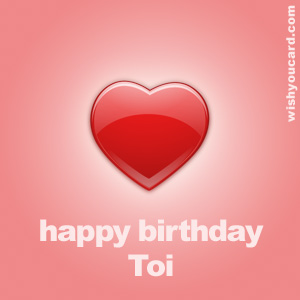 happy birthday Toi heart card