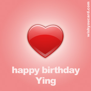happy birthday Ying heart card
