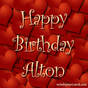happy birthday Alton hearts card