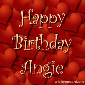 Happy birthday angie
