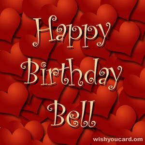 Happy birthday bell