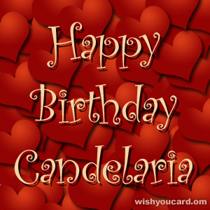 happy birthday Candelaria hearts card