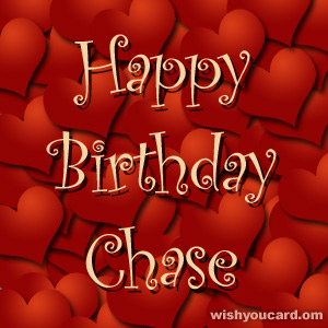 happy birthday Chase hearts card
