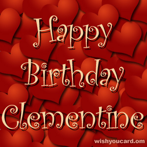 happy birthday Clementine hearts card