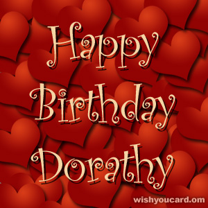 happy birthday Dorathy hearts card