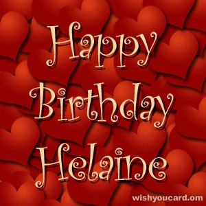 happy birthday Helaine hearts card