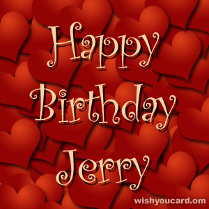 happy birthday Jerry hearts card