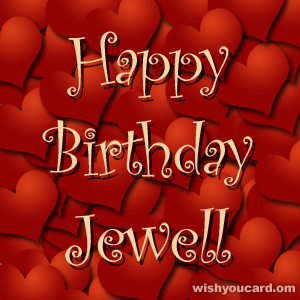 happy birthday Jewell hearts card
