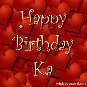 Happy Birthday Ka Free e-Cards