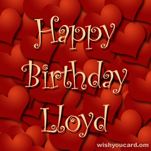 happy birthday Lloyd hearts card