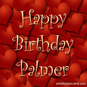 happy birthday Palmer hearts card