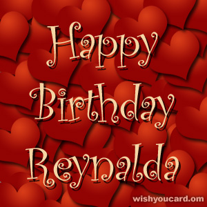 happy birthday Reynalda hearts card