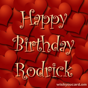 happy birthday Rodrick hearts card