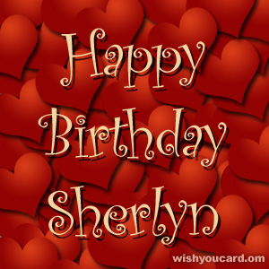 happy birthday Sherlyn hearts card