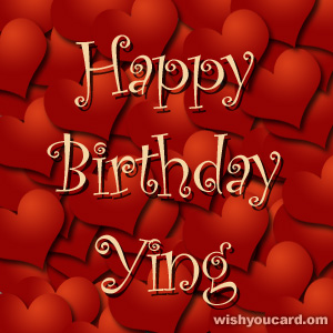 happy birthday Ying hearts card