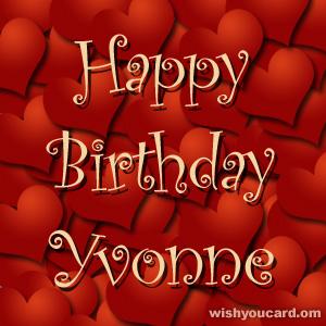 Happy Birthday Yvonne Free E Cards