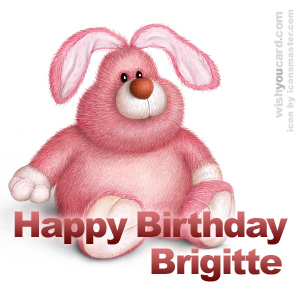 happy birthday Brigitte rabbit card