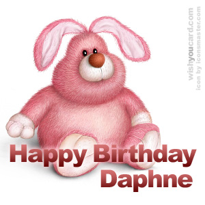 happy birthday Daphne rabbit card