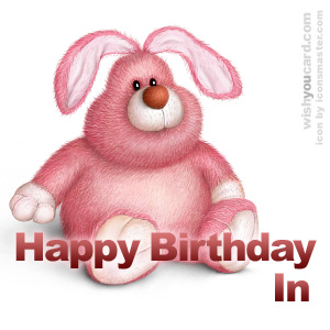 happy birthday In rabbit card