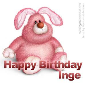 happy birthday Inge rabbit card