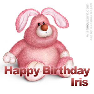 happy birthday Iris rabbit card