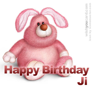 happy birthday Ji rabbit card
