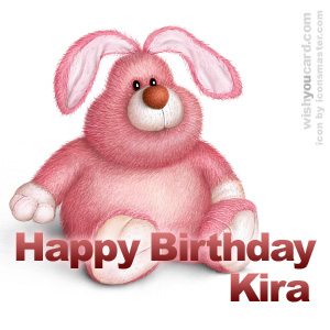 happy birthday Kira rabbit card